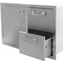 BBQ Guys Kingston Series 30 Inch Access Door & Double Drawer Combo
