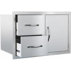 Summerset 30-Inch Stainless Steel Masonry Access Door & Double Drawer Combo - SSDC-M image