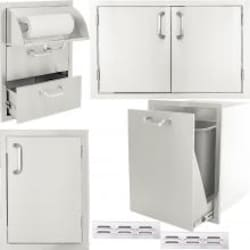 BBQGuys.com Kingston Series 6-Piece Outdoor Kitchen Storage Package image