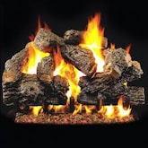 Peterson Real Fyre 42-Inch Charred Royal English Oak Outdoor Log Set With Vented Natural Gas Stainless G45 Burner - Match Light