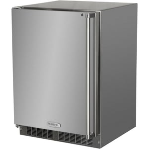 Marvel 24-Inch Left Hinge Outdoor Rated Compact Refrigerator With Freezer - MO24RFS2LS image