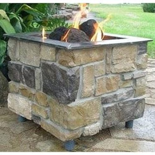 FireScapes Smooth Ledge Pedestal Natural Gas Fire Pit