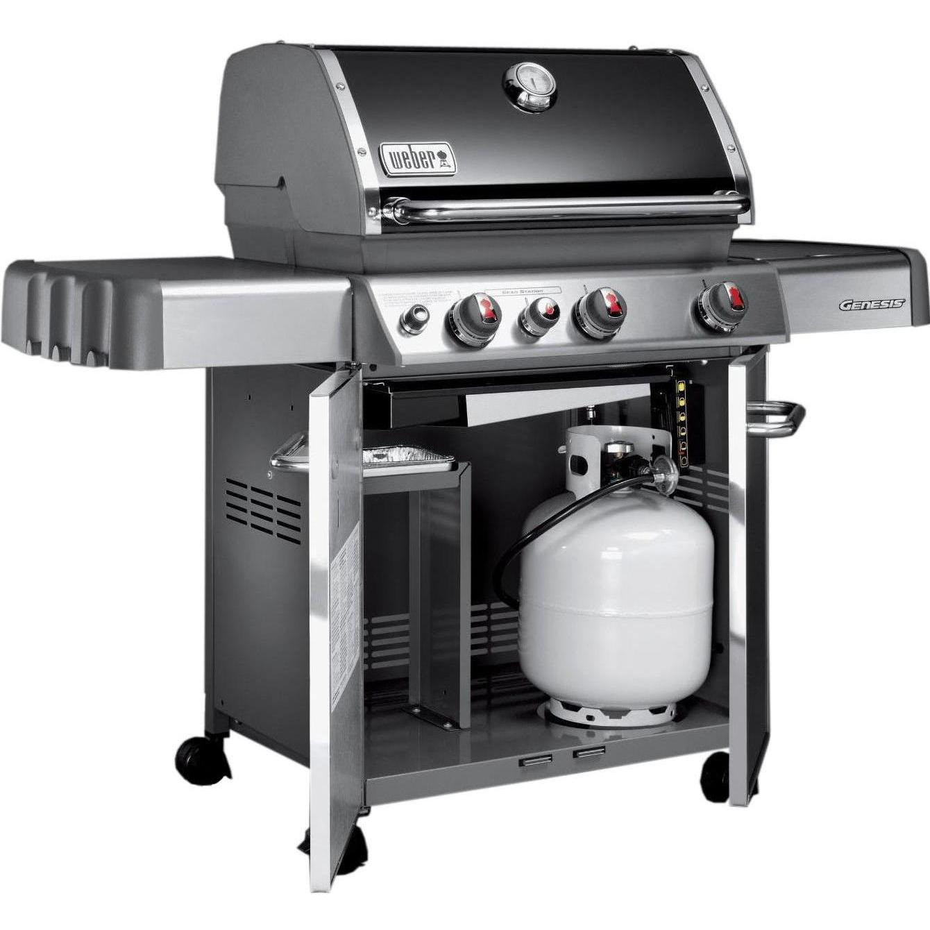 weber genesis e 330 freestanding propane gas grill with. Black Bedroom Furniture Sets. Home Design Ideas