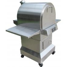 Smoke-N-Hot Stainless Steel Outdoor Pellet Pizza Oven Cooking Center Smoke-N-Hot Outdoor Cooking Center - Angled View