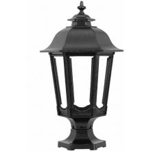 American Gas Lamp Works GL1200 Cast Aluminum Manual Ignition Natural Gas Light With Dual Mantle Burner And Pedestal Mount