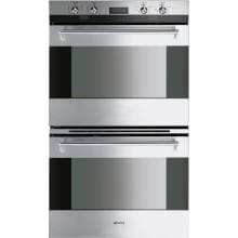 Smeg Classic 30-Inch Built-In Electric Double Wall Oven - Stainless - DOU330X