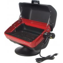 Meco Tabletop Electric BBQ Grill - 9300 Hood Open