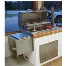 Texas Barbecues 500 Stainless Brick-In Barbecue Pit/Smoker image