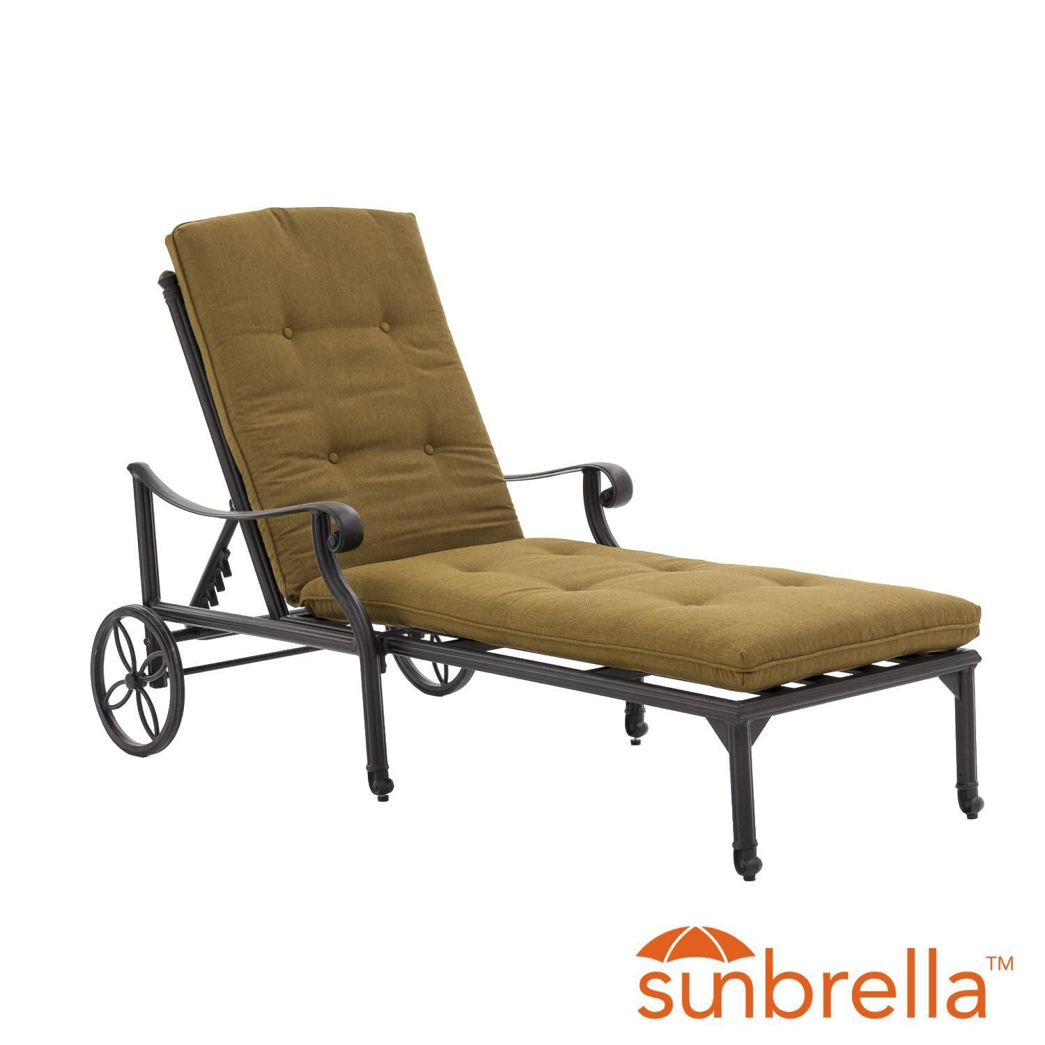 Evangeline Cast Aluminum Patio Chaise Lounge By Lakeview Outdoor ...