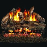 Peterson Real Fyre 24-Inch Charred Red Oak Gas Log Set With Vented G4 Burner