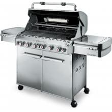 Weber Summit S-670 Freestanding Propane Gas Grill With Rotisserie, Sear Burner & Side Burner Weber Summit S-670 - Open View