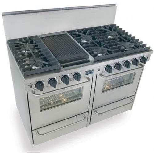 FiveStar Ranges TTN531-7BW 48 Inch Natural Gas Convection Range With Sealed Burners - Stainless Steel