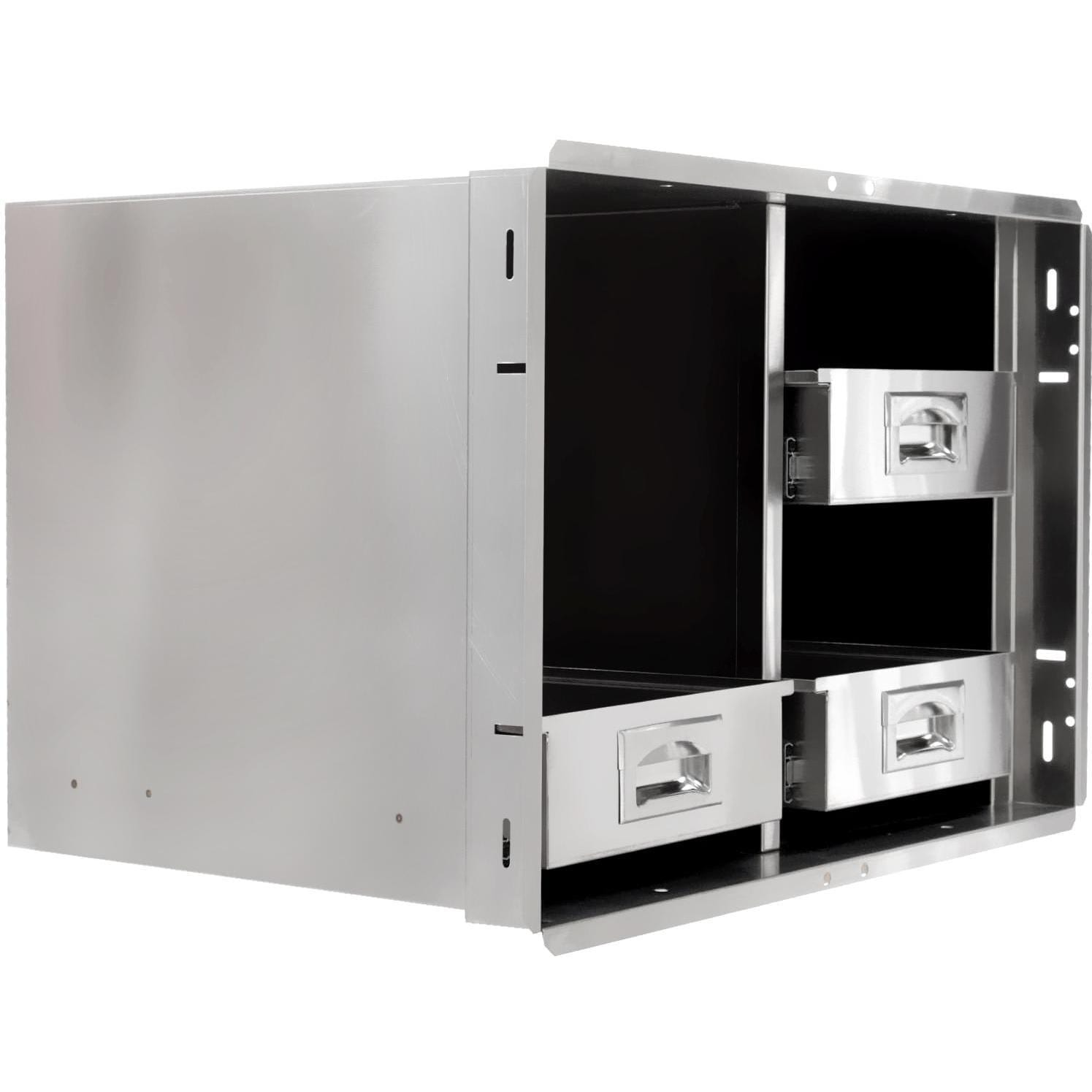 Cabinet With Drawers Bbqguyscom Kingston Series 30 Inch Stainless Steel Enclosed