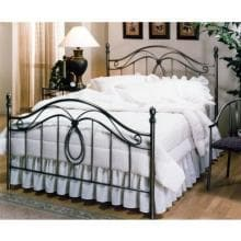 Hillsdale Milano Antique Pewter Metal Bed Set With Frame - Queen - 167BQR image