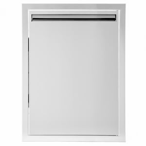 BBQGuys Aspen Series 17-Inch Stainless Steel Right-Hinged Single Access Door - Vertical image