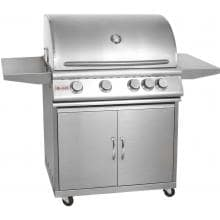 Blaze 32-Inch 4-Burner Propane Gas Grill With Rear Infrared Burner On Cart