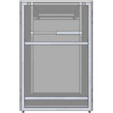 Universal 24-Inch Ready To Finish BBQ Island Appliance And Storage Cabinet image