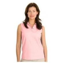 Port Authority Ladies Silk Touch Sleeveless Polo Shirt Medium - Light Pink image
