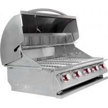 Cal Flame G5 40-Inch 5-Burner Built-In Propane Gas BBQ Grill - BBQ09G05 Side View Open
