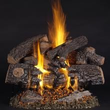 Rasmussen 24-Inch TimberFire Gas Log Set With Vented Natural Gas LC Multi-Burner - Match Light Rasmussen 24-Inch TimberFire Gas Log Set With Vented Natural Gas LC Multi-Burner - Match Light