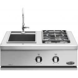 DCS 30-Inch Liberty Built-In Natural Gas Double Side Burner And Sink - BFGC-30BS-N image
