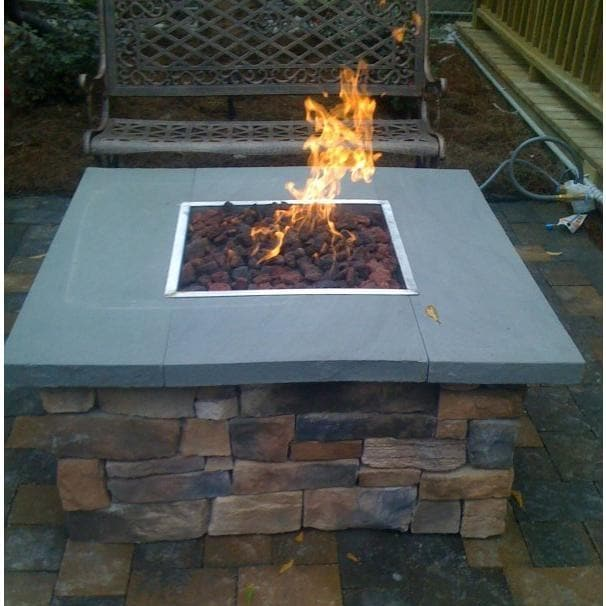 36 Inch Natural Gas Fire Pit Table By OEC Cultured Stone