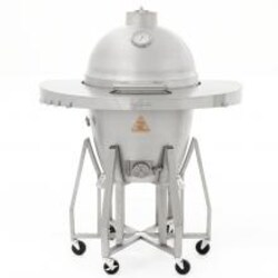 Blaze 20-Inch Cast Aluminum Kamado Grill With Stainless Steel Cart & Round Shelf - BLZ-20-KAMADO image