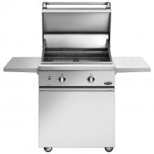 DCS Professional 30-Inch Freestanding Propane Gas Grill On DCS CSS Cart With Two Side Shelves - BGC30-BQ-L DCS Professional 30-Inch Freestanding Propane Gas Grill On DCS CSS Cart With Two Side Shelves - Open View