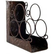 Old Dutch Antique Copper Wine Rack Full View