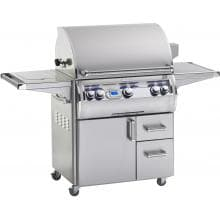 Fire Magic Echelon Diamond E790s 36-Inch Freestanding Propane Gas Grill With Single Side Burner And One Infrared Burner - E790s-4L1P-62 Fire Magic Echelon Diamond E790s Propane Gas Grill With Single Side Burner On Cart