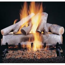 Rasmussen 18-Inch White Birch Log Set (Logs Only - Burner Not Included) image