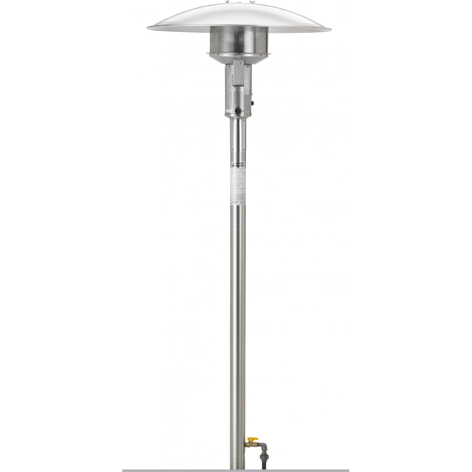 sunglo 50000 btu natural gas post mount patio heater with