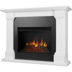 Real Flame Callaway Grand 63-Inch Electric Fireplace With Mantel - White - 8011E-W image