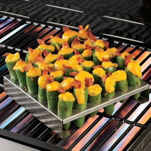 Stainless Steel Jalapeno Poppers Grilling Rack - Extra Large