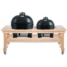 Primo Ceramic Smoker Grills On Cypress All Event Table - Oval XL & Oval Junior