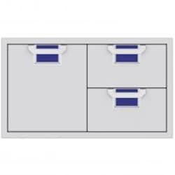 Aspire By Hestan 36-Inch Double Drawer And Single Storage Door Combo - Prince - AESDR36-BU image