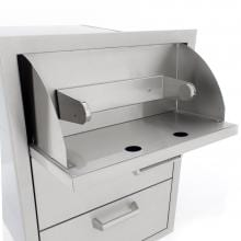 BBQGuys.com Sonoma Series 20-Inch Stainless Steel Double Access Drawer With Paper Towel Dispenser BBQGuys.com Sonoma Series 20-Inch Double Access Drawer - Paper Towel Holder