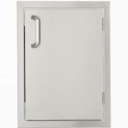 BBQGuys Kingston Series 17-Inch Stainless Steel Right-Hinged Single Access Door - Vertical image