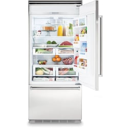 Viking 5 Series 36-Inch 20.4 Cu. Ft. Built-In Right Hinge Bottom Freezer Refrigera…