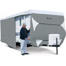 Classic Accessories PolyPRO 3 Travel Trailer Cover - Grey/White - Model 4