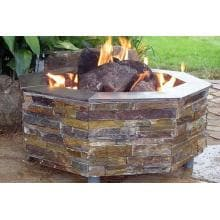 FireScapes The Virginian Octagonal Propane Fire Pit image