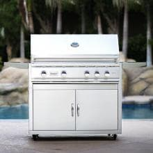 Summerset TRL 38-Inch 4-Burner Freestanding Propane Gas Grill With Rotisserie - TRL38-LP Summerset TRL Gas Grill With Rotisserie - On the Patio