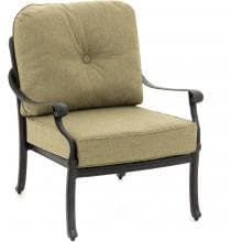 Rosedown Cast Aluminum Patio Club Chair By Lakeview Outdoor Designs - Linen Sesame