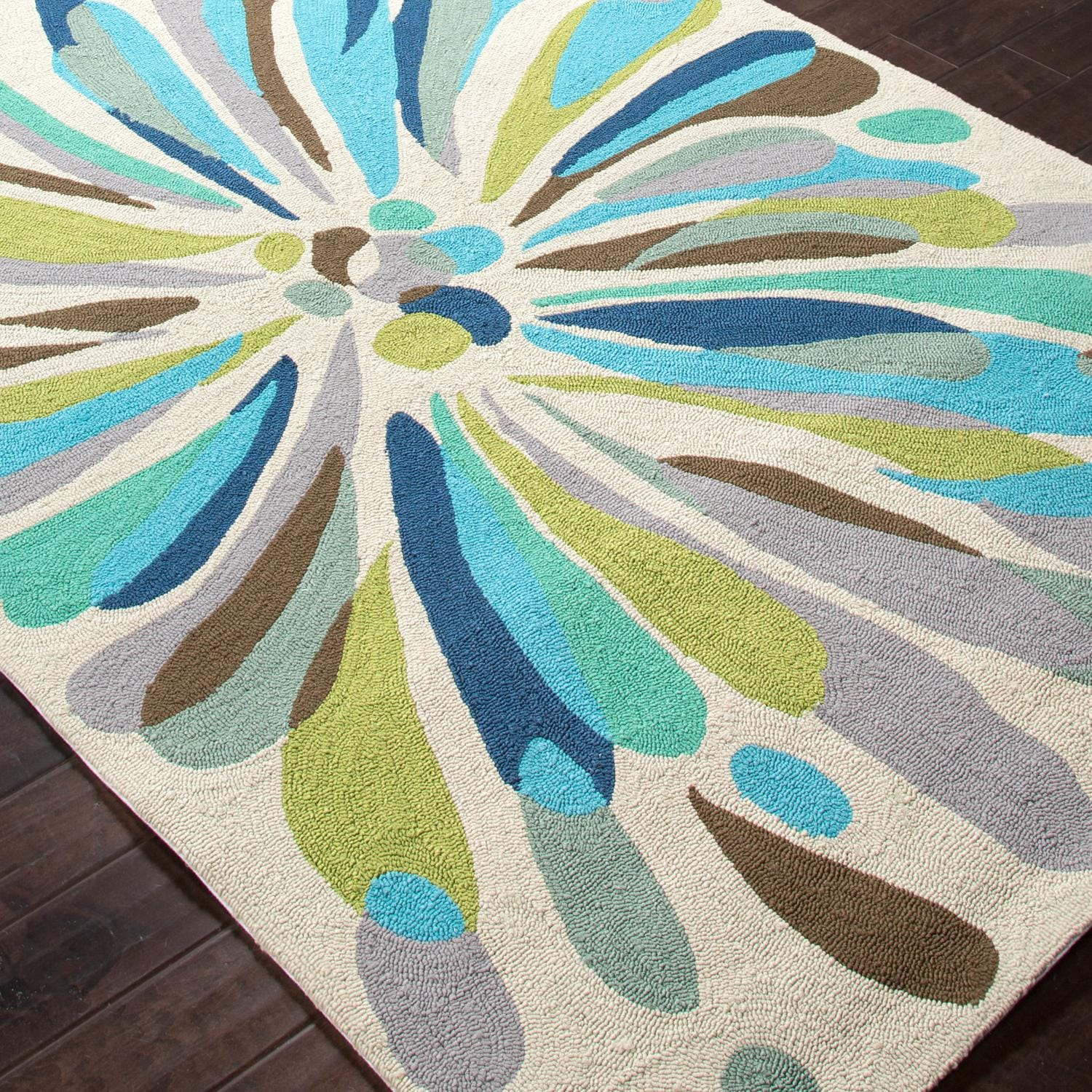 Jaipur Rugs Colours Flowerburst 2 X 3 Indoor/Outdoor Rug   Angle View