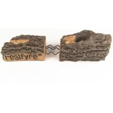 Peterson Real Fyre 24-Inch Charred Aged Split Oak Gas Log Set With Vent-Free Propane ANSI Certified G10 Burner - Manual Safety Pilot Real Fyre Logs Feature Rigid Steel Reinforcement