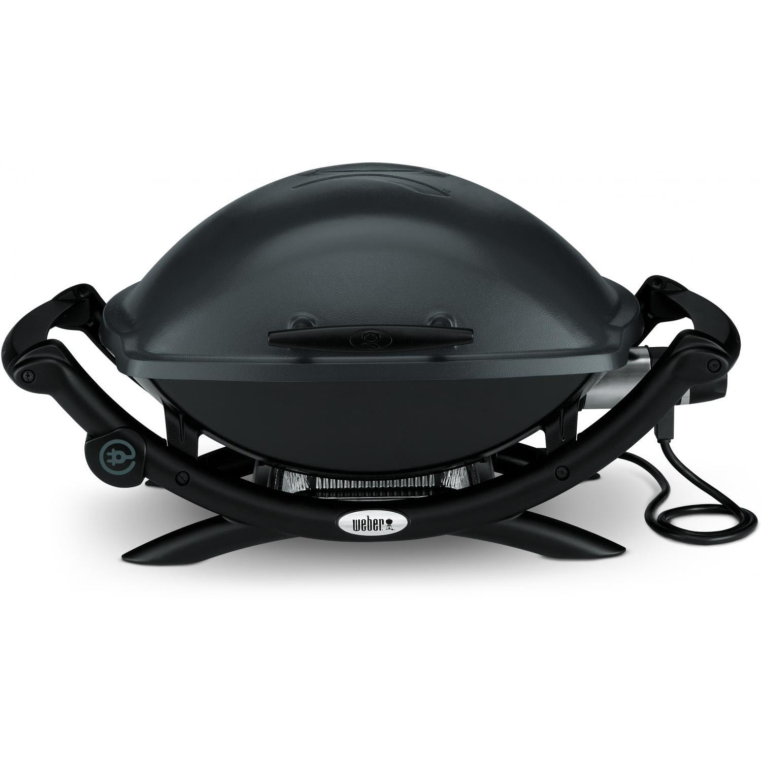 Weber Q 2400 Portable Electric Grill - Dark Gray - 55020001 There are various scuffs and scratches on the and the burner pan. The burner pan also has a few dents. Damage listed does not hinder use. (Stock# 127774-H)