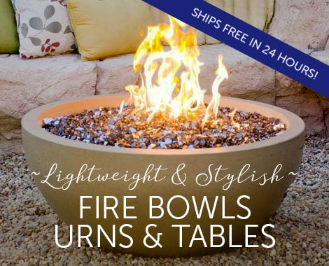 Lightweight and Stylish Fire Bowls, Urns and Tables