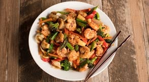 Asian Shrimp Boil & Vegetable Stir-Fry on the Blaze Power Burner