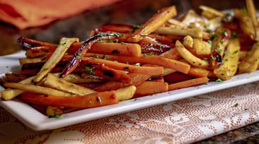 Grilled Honey Glazed Carrots & Parsnips