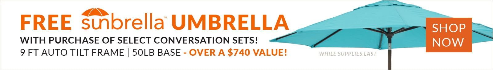 Free Umbrella with Purchase of Select Conversation Sets